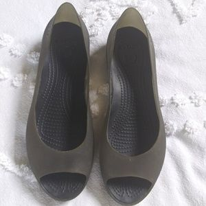 Crocs Peep Toe Size 8